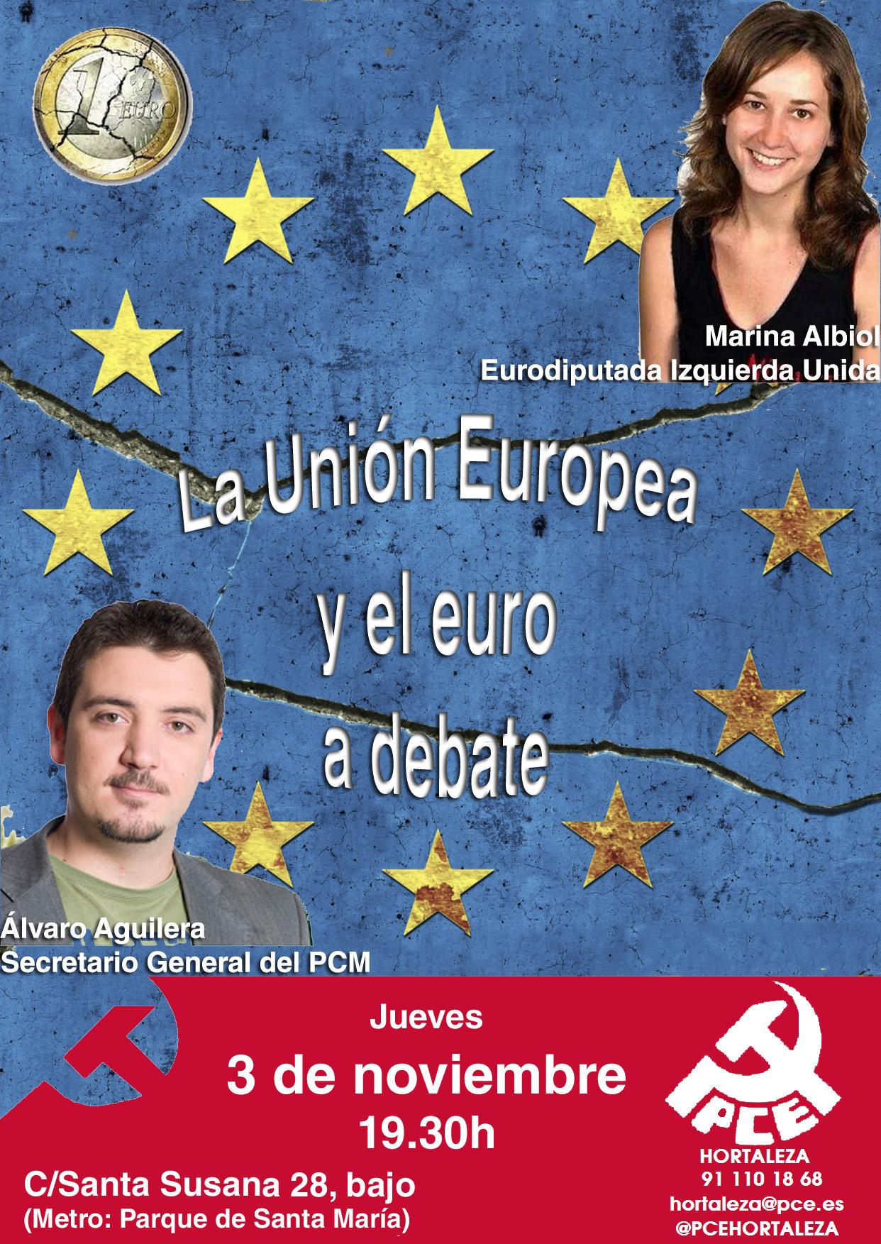 Acto UE PCE Marina Albiol y Álvaro Aguilera