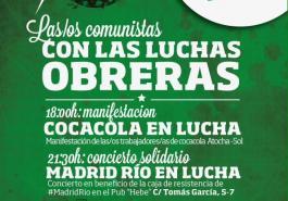 Manifestación 8 enero Cocacola en lucha, Madrid Río en lucha